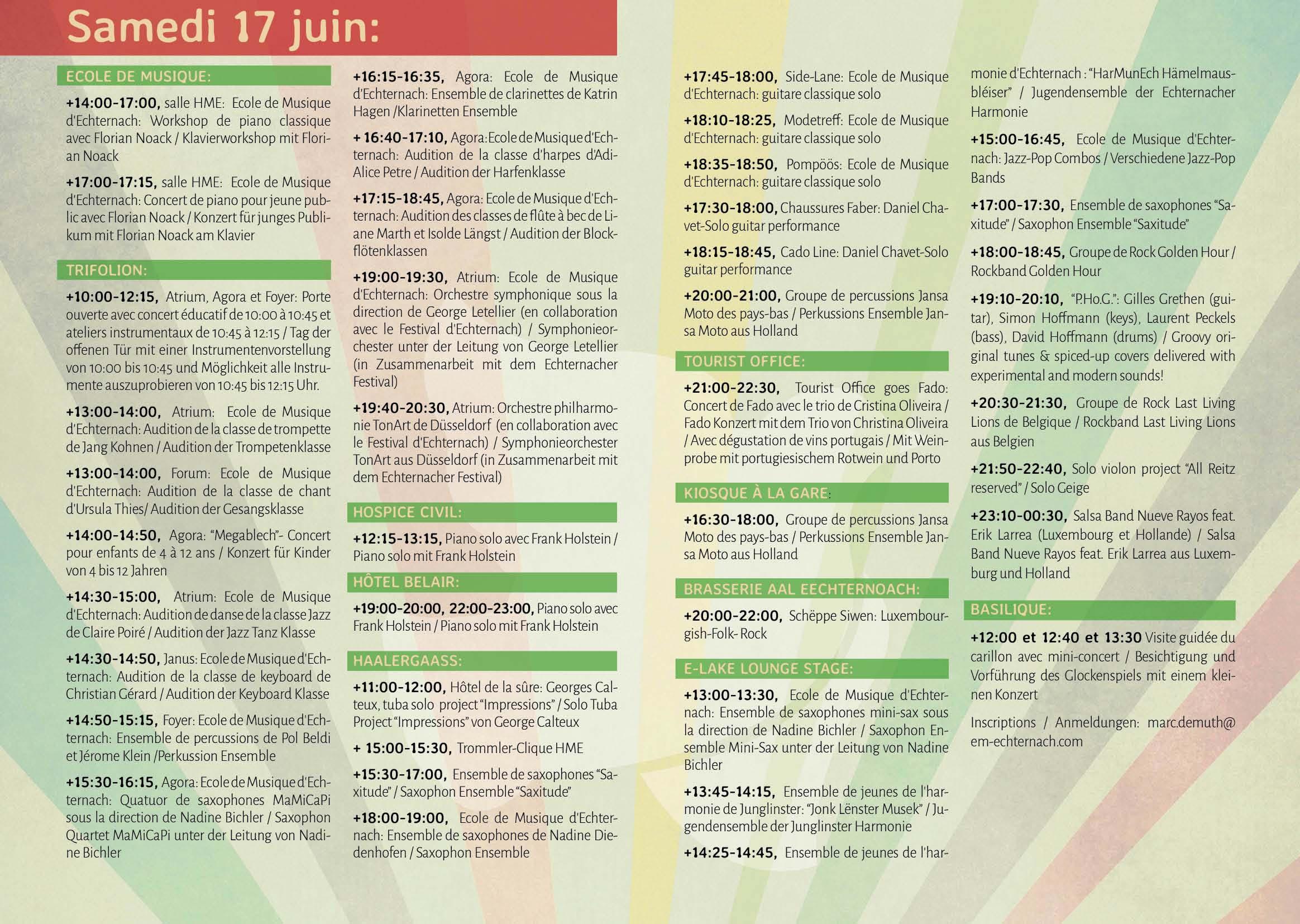Programme 17.06.17