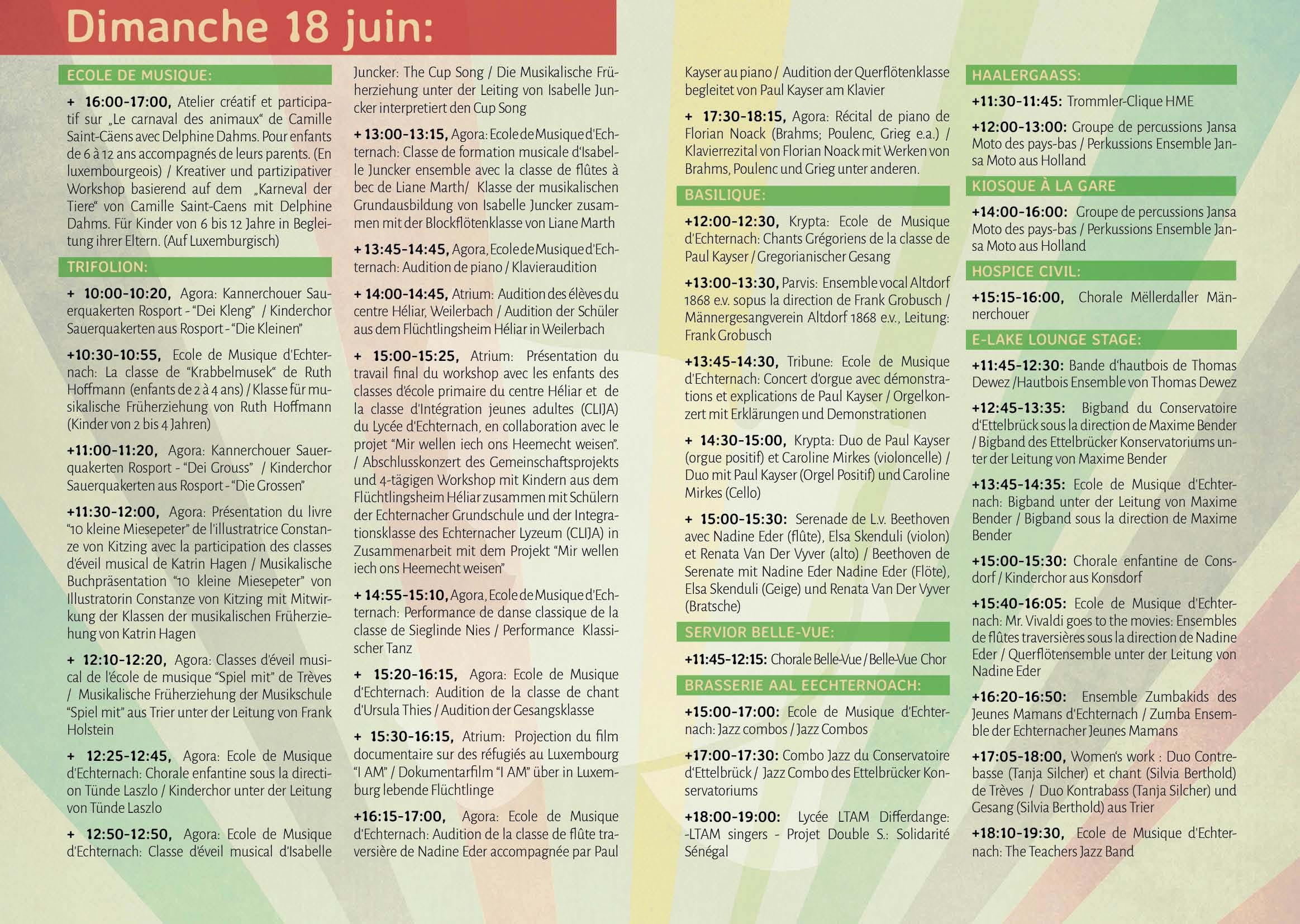Programme 18.06.17